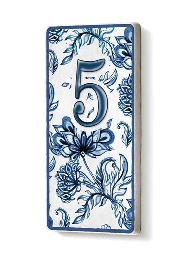 The Mia Kapı Numarası Mavi Beyaz 5 Mavi